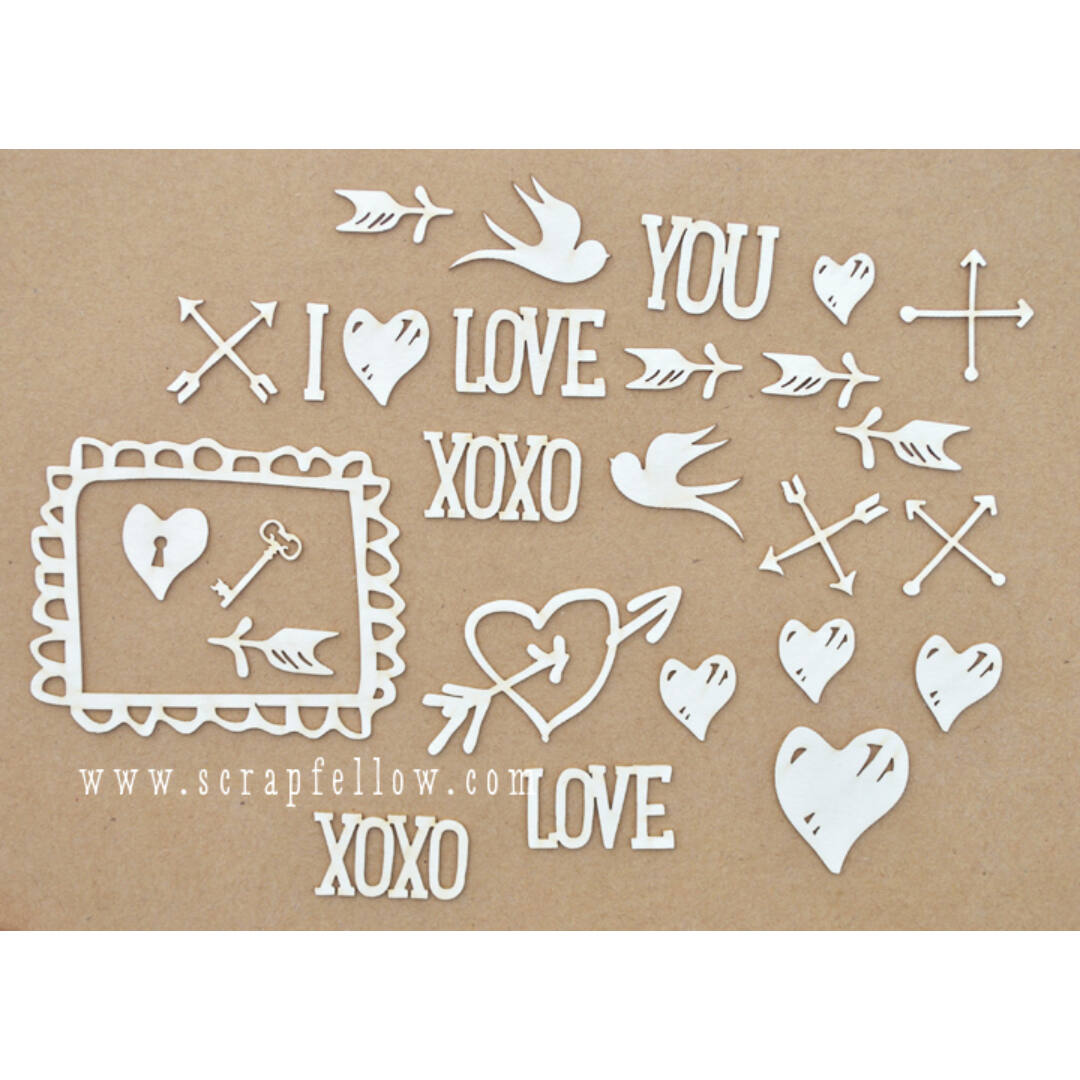Chipboard MINI | XOXO