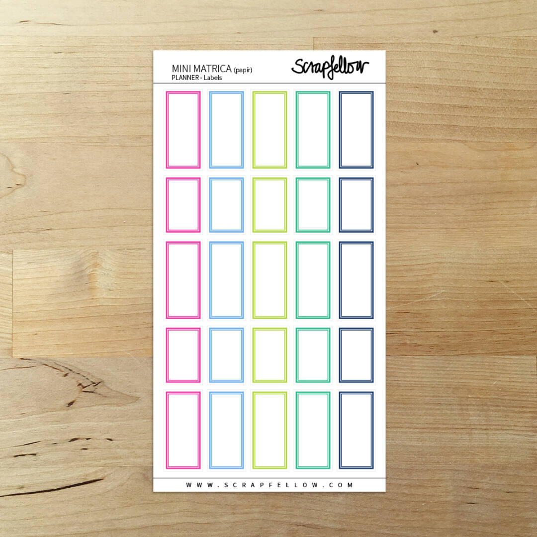 PLANNER Labels - Mini Matrica