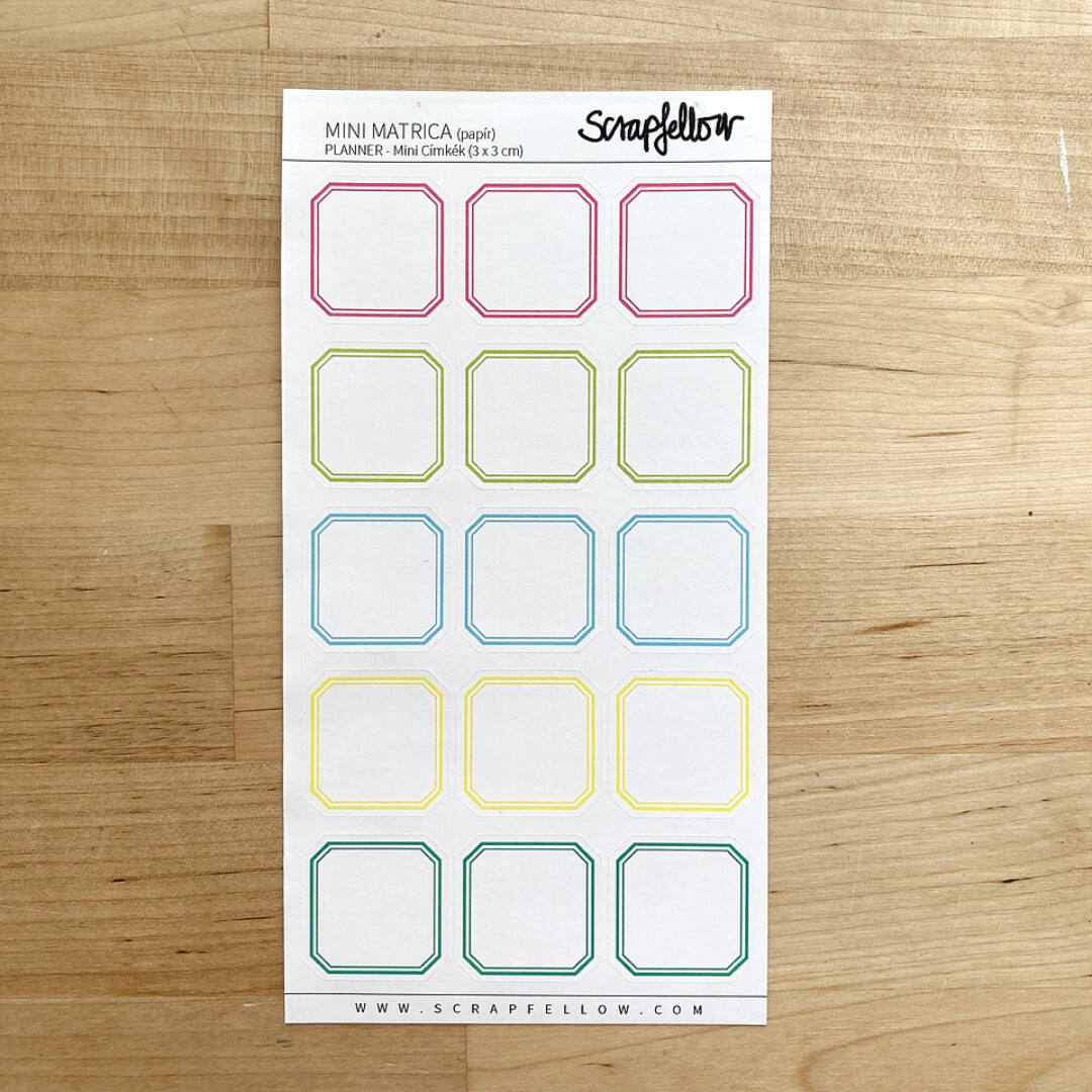 PLANNER Mini címkék 3x3 | Planner Matrica