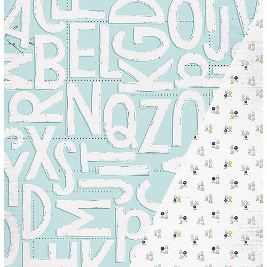 First Letter - 12x12 scrapbook papír