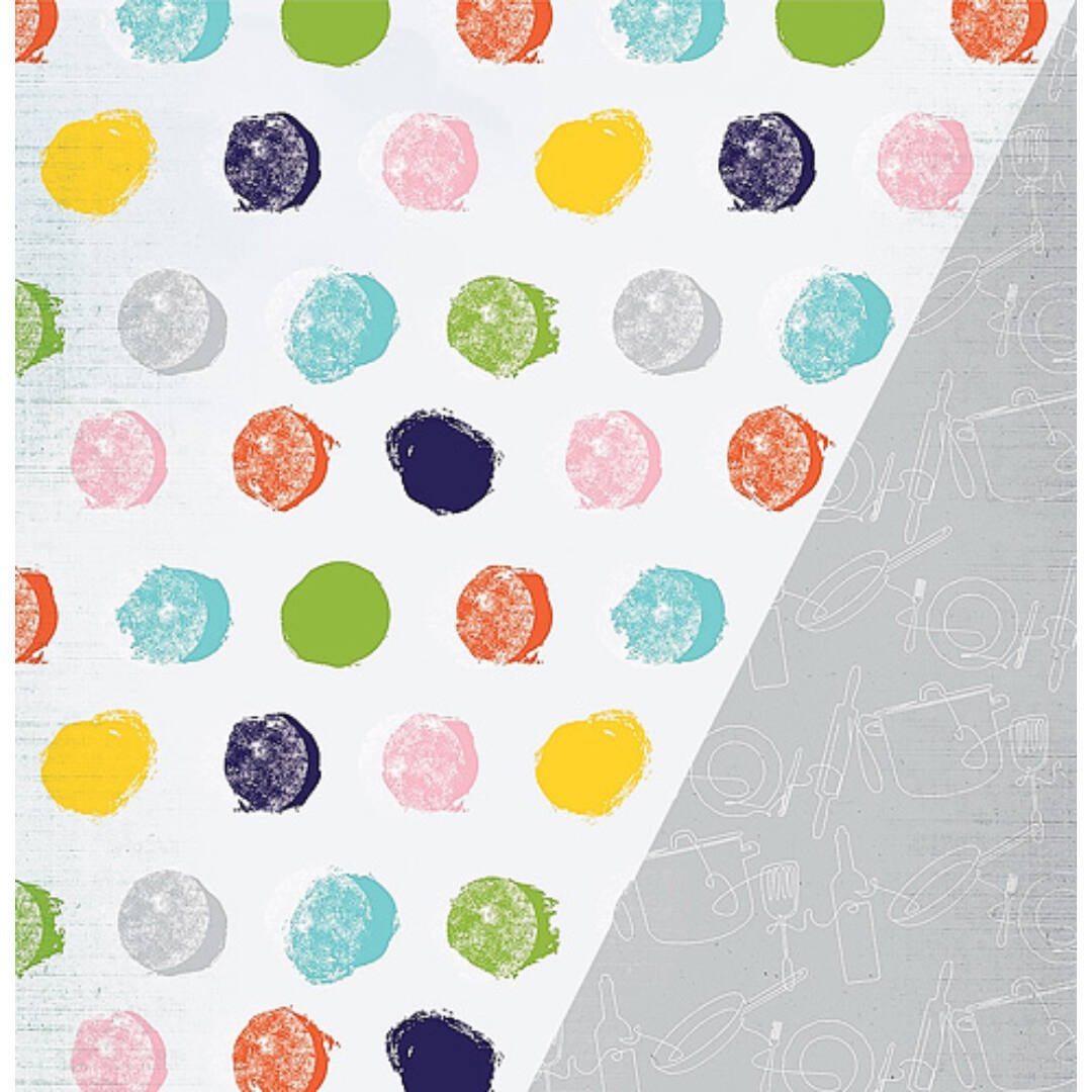Gastronomy - 12x12 scrapbook papír