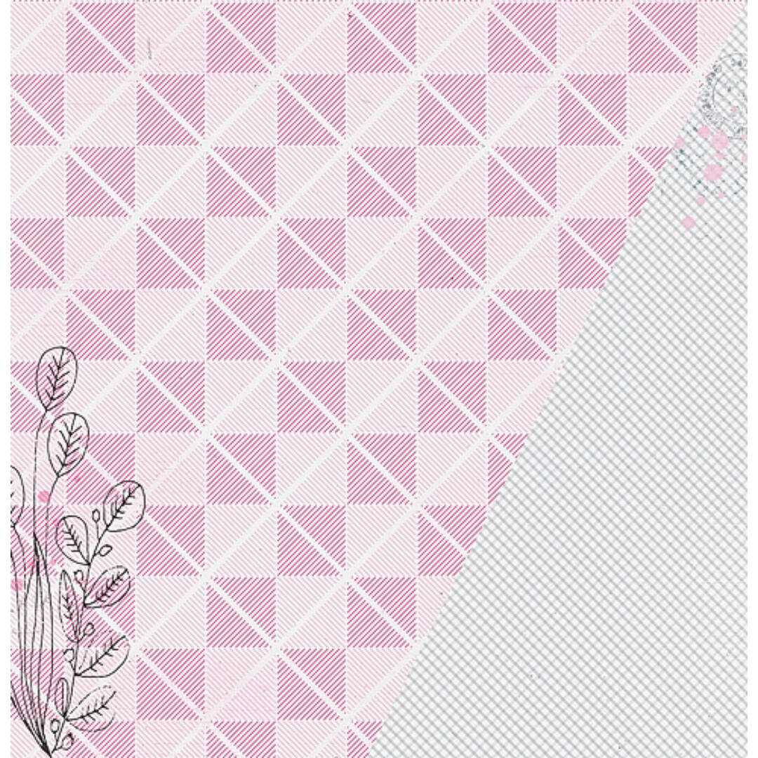 Gingham - 12x12 scrapbook papír