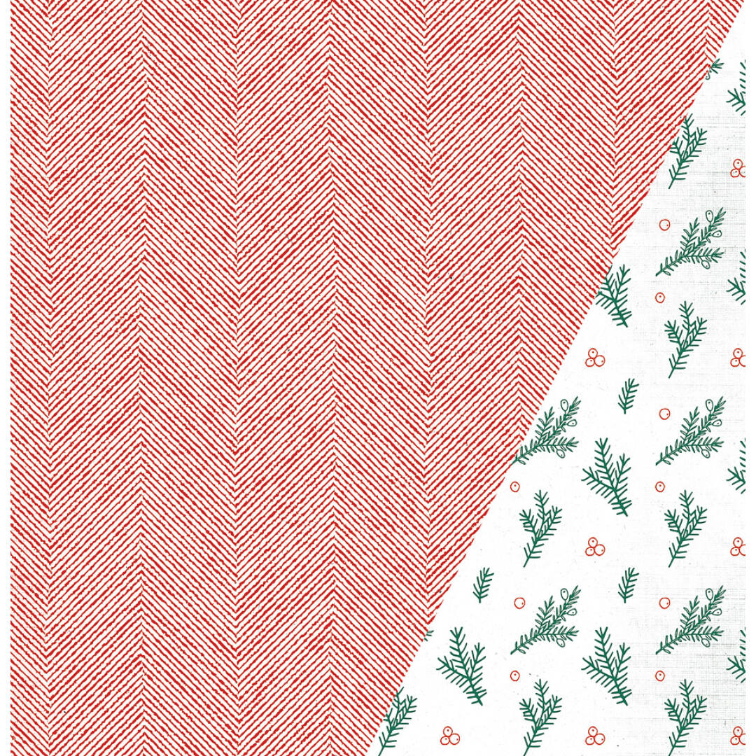 Scotch Pine- 12x12 scrapbook papír