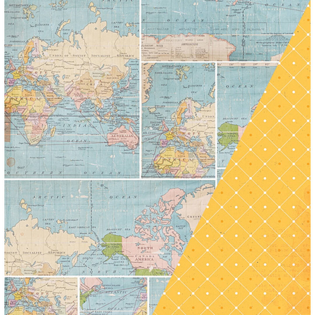 Whole World - 12x12 scrapbook papír