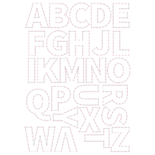 ABC Hímzőstencil
