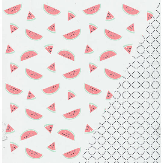Watermelon - 12x12 scrapbook papír